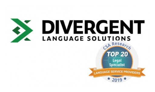 Divergent Language Solutions Recognized as Top Language Service Provider Specialized in Legal Translation Services