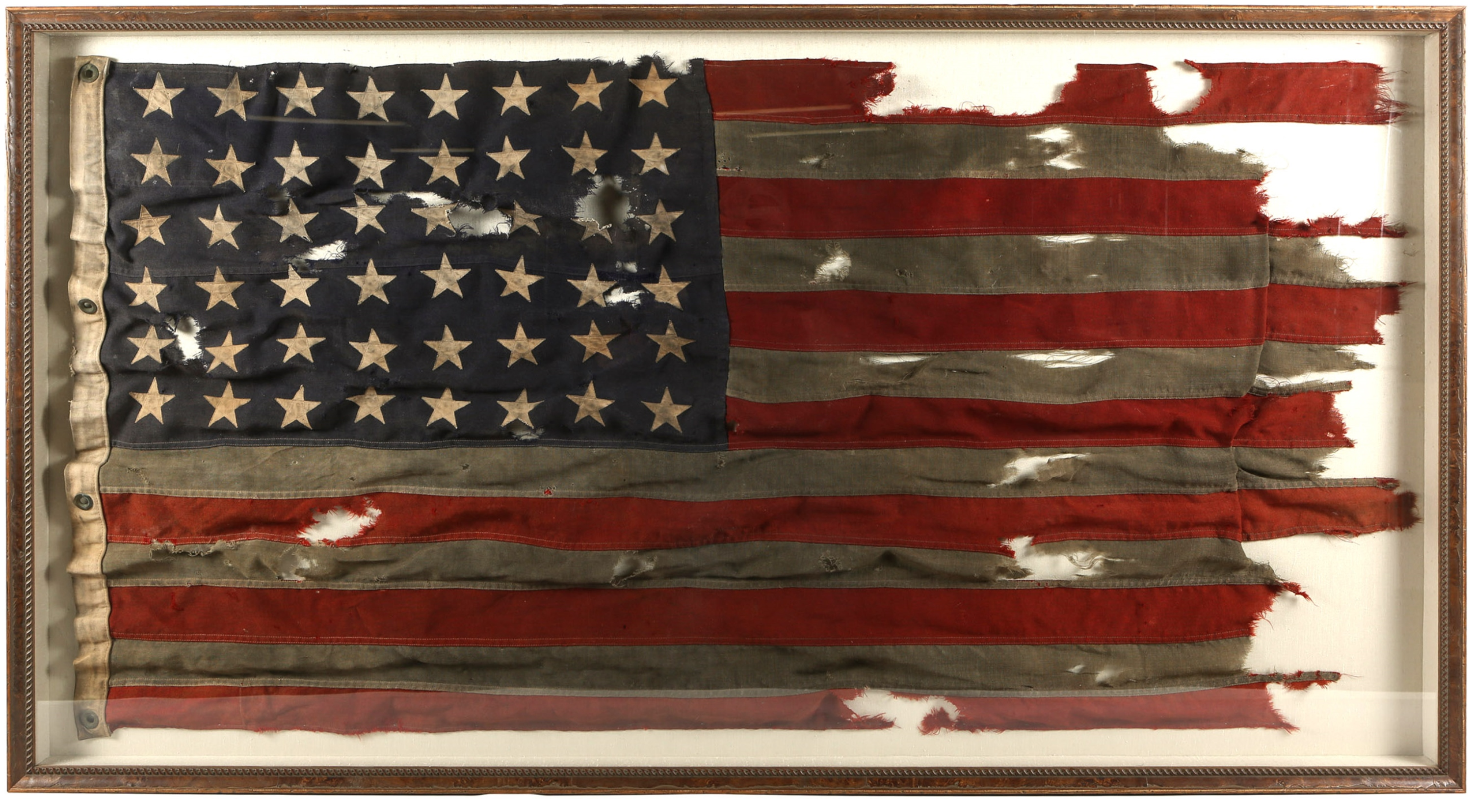 Historically Important WWII D-Day Flag of LCT 530 - Utah Beach