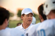 Les Miles on the set of The Last Whistle