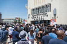 Some 2,500 gathered July 21 at the Church of Scientology Community Center in South Los Angeles at a peace summit called by rapper The Game and Nation of Islam Minister Tony Muhammad