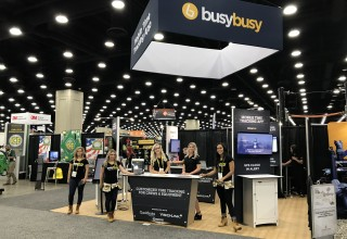 The busybusy Tradeshow Booth