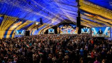 Scientologists and guests from around the world convene under the Grand Marquee on Friday, October 11.