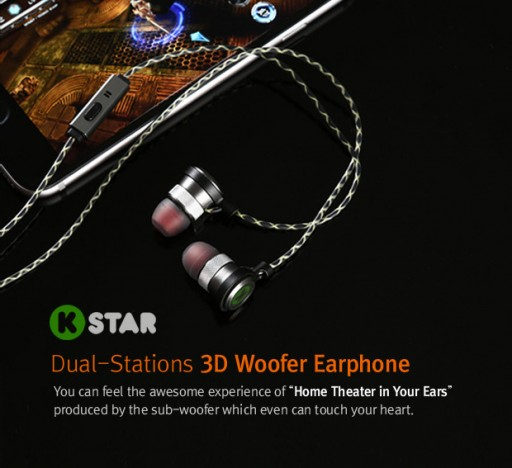 KStar Earphones: Woofer Earphones With Patented Bone Conduction Technology