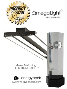 OmegaLight LED Highbay wins Plant Engineering Product of the Year