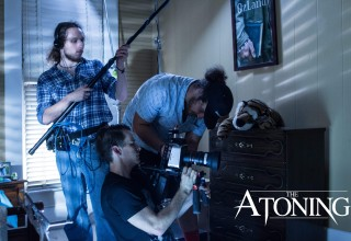 Director Michael Williams on set