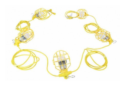 Larson Electronics Releases 50W 26' Temporary Construction String Light, 5,250 Lumens, 5 LEDs