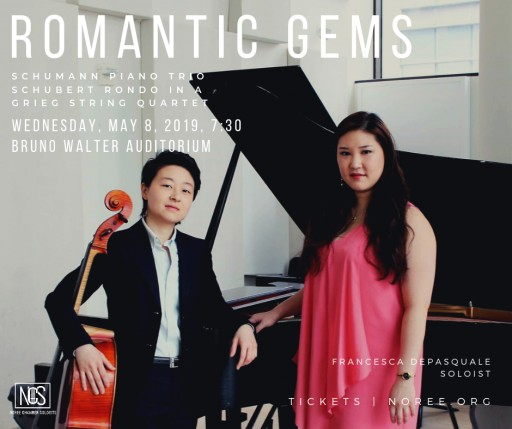 Noree Chamber Soloists Brings Limelight to Lesser-Performed Works of the Romantic Period on Wednesday, May 8, 2019 at 7:30PM in Bruno Walter Auditorium