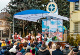 Traditional Slovakian dancers performed at the grand opening of the new Ideal Church of Scientology Mission January 13, 2018.