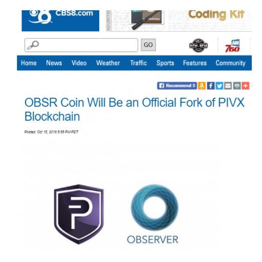 OBSR - PIVX Fork News On CBS!