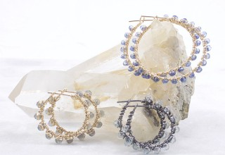 Handmade Gemstone Hoop Earrings