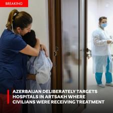 Hospitals are targeted by Azerbaijan in Nagorno-Karabakh