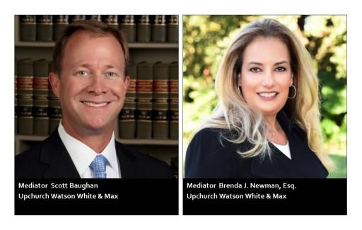 Mediators Scott M. Baughan and Brenda J. Newman Certified by U.S. District Court