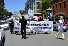 Citizens Commission on Human Rights marched in protest of psychiatry promoting the highly dangerous practice of  ECT