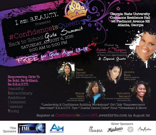 GENERATIONS INSPIRED INC. & I AM BEAUTY INC. PRESENTS  Inaugural I AM B.E.A.U.T.Y  #ConfidenceisQueen Back to School Girls Summit