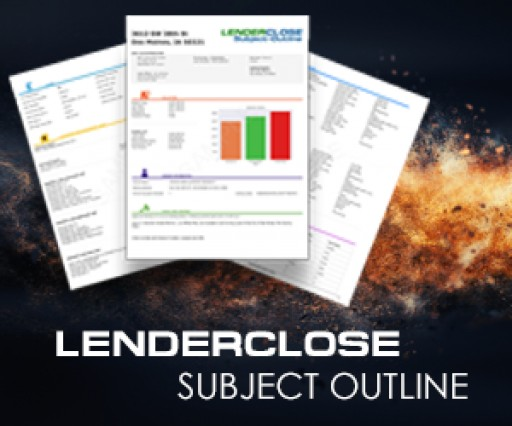 LenderClose Launches the Subject Outline, a Comprehensive Data Report for Home Equity and Refinance Lenders