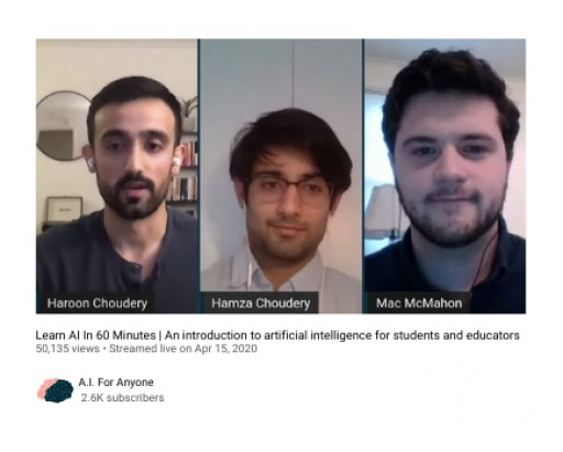 Grassroots AI Nonprofit Delivers Virtual Workshop to 30,000 Viewers Amidst Pandemic