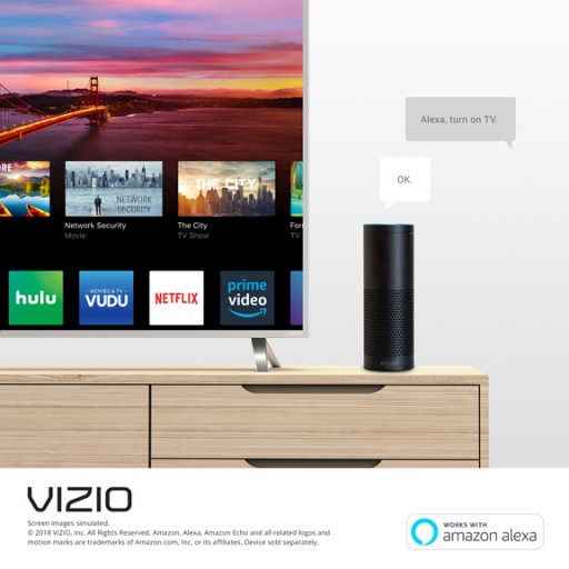 VIZIO Introduces Skill for Amazon Alexa to Enable Easier-Than-Ever Control of Select VIZIO SmartCast(TM) Displays