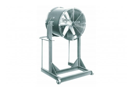 """Larson Electronics Releases Explosion-Proof, High-Velocity Fan for Rent, 36"""", 14,850 CFM, 1-1/2 HP"""