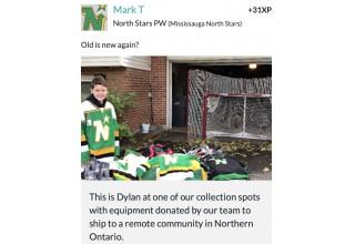 Donating Old Hockey Gear