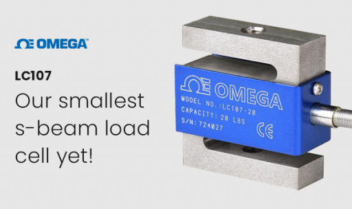 Omega Announces the Release of Its Smallest S-Beam Load Cell Yet