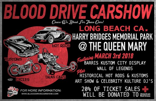 Inaugural Blood Drive Car Show Comes to Long Beach March 3rd