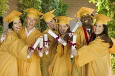 Group of Happy College Graduates