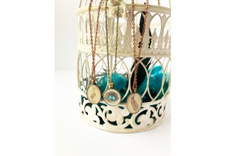 Enchanted Aviary Cabochon Necklaces