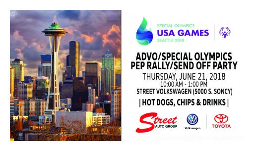 Street Automotive Group Hosts ADVO and Special Olympics Pep Rally & Send Off Party