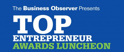 The Business Observer Announces the 2019 Top Entrepreneurs Honorees; Awards Luncheon is May 23 in Lakewood Ranch