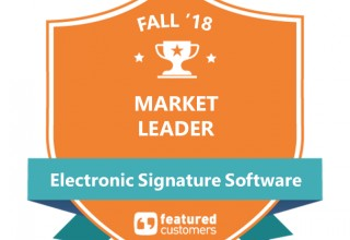 AssureSign is a 2018 Market Leader by FeaturedCustomers