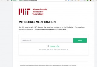 MIT Diploma Verification