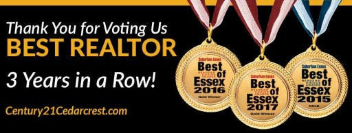 "Century 21 Cedarcrest Realty Wins First Place in Real Estate Category in 2017 Best of Essex Awards; Caldwell, N.J. Real Estate Agency is Named ""Best Realtor"""