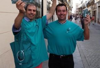 Volunteers, proud of the drug prevention activities