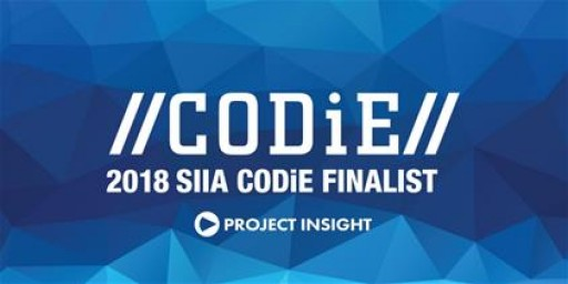 Project Insight Honored to Be Nominated in 2018 SIIA Business Technology CODiE Awards