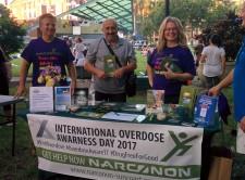 Narconon Suncoast drug education table at rally