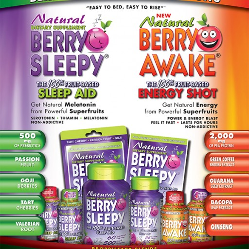 Healthy Ventures  Launching Berry Sleepy and Berry Awake in Major  Accounts Nationally