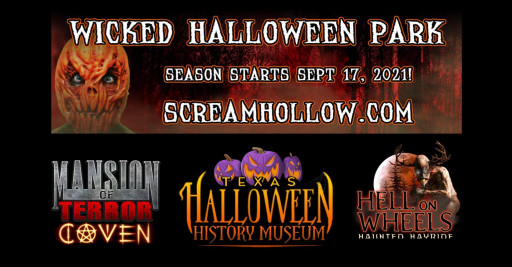 Scream Hollow Wicked Halloween Park, Largest Haunted Attraction in Texas, Set to Open Sept. 17, 2021