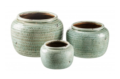 Trio of Hand-Glazed Pots Are Flagship of Gaia's New Pottery Line