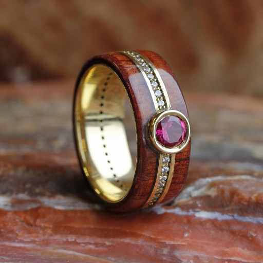 Distinctly Johan Ruby, Rosewood and Diamond Eternity Band