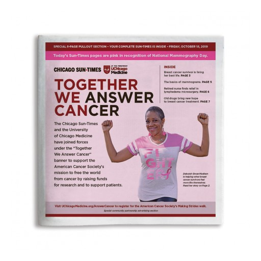 University of Chicago Medicine and Chicago Sun-Times  Partner to Answer Cancer