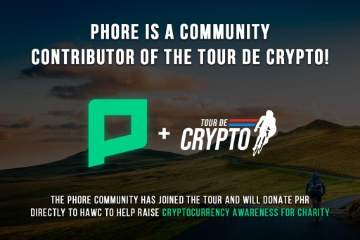 Phore Blockchain Supports 'Tour De Crypto' to Raise Cryptocurrency Awareness and Blockchain Adoption for Charity