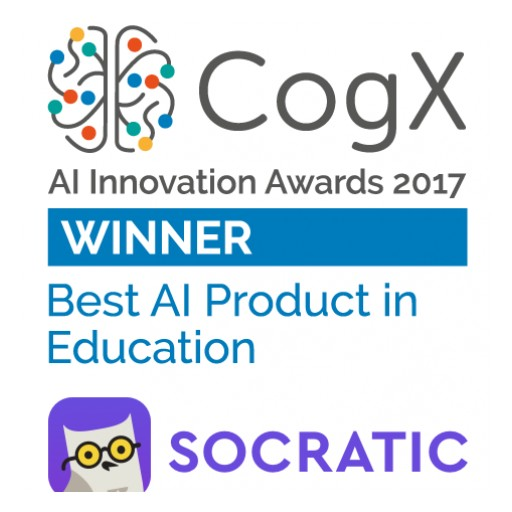 Socratic Wins Ai Innovation Award at Cogx London 2017