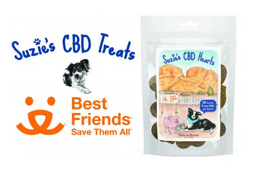 Suzie's CBD Treats Partners With Best Friends Animal Society
