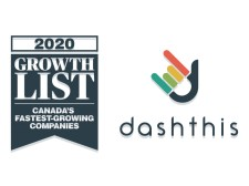 DashThis' Steady Growth Ranks Them Among Canada's Fastest-Growing Companies for a Third Consecutive Year