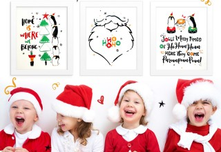 Our Holly Jolly Home Wall Art Prints from the Christmas Joys Collection