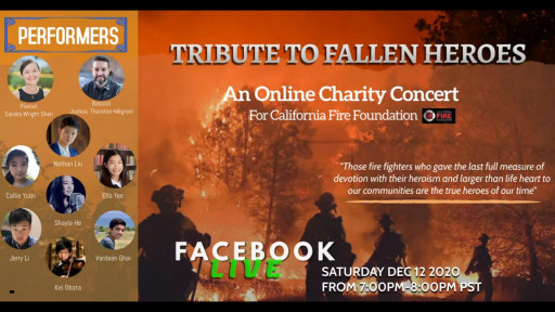Harker High School Students Host Online Concert in Support of California Fire Foundation