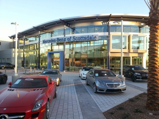 Artistic Paver Mfg. Features Driveway Pavers at the Mercedes-Benz of Scottsdale, AZ