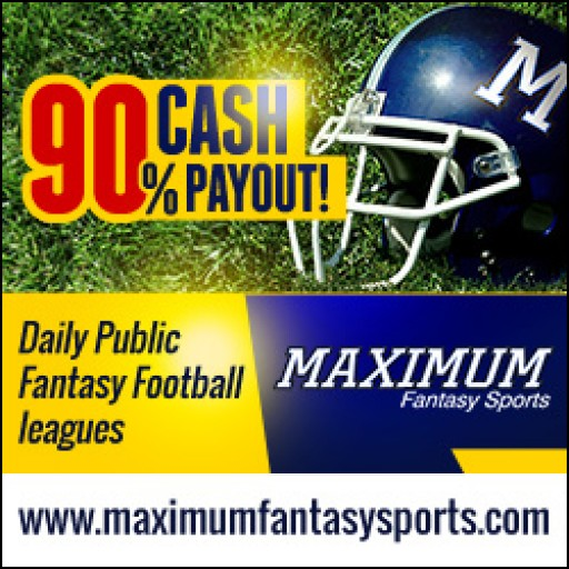 Maximum Fantasy Sports Offers 100 Percent Fantasy League Payouts in NFL Week 1