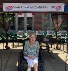 Viola Mantell at Job Haines celebration