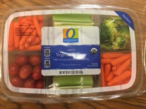 Mann Packing Voluntarily Issuing Class 1 Recall of O Organics Organic Vegetable Tray With Creamy Ranch Dressing Dip Due to Mislabeled Ingredients That May Pose an Allergen Risk